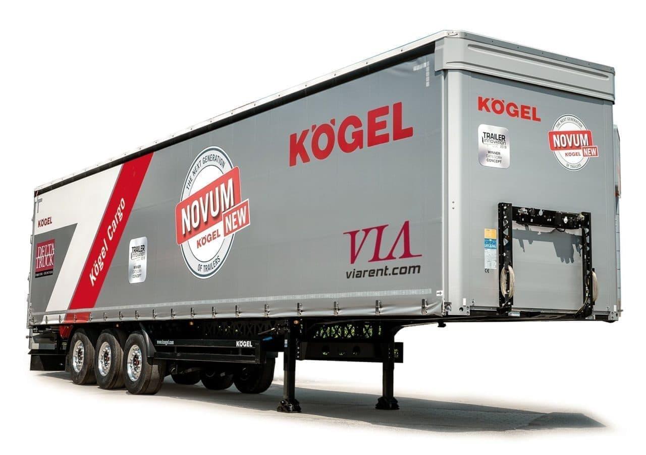 Náves s plachtou Kögel Cargo prenájom