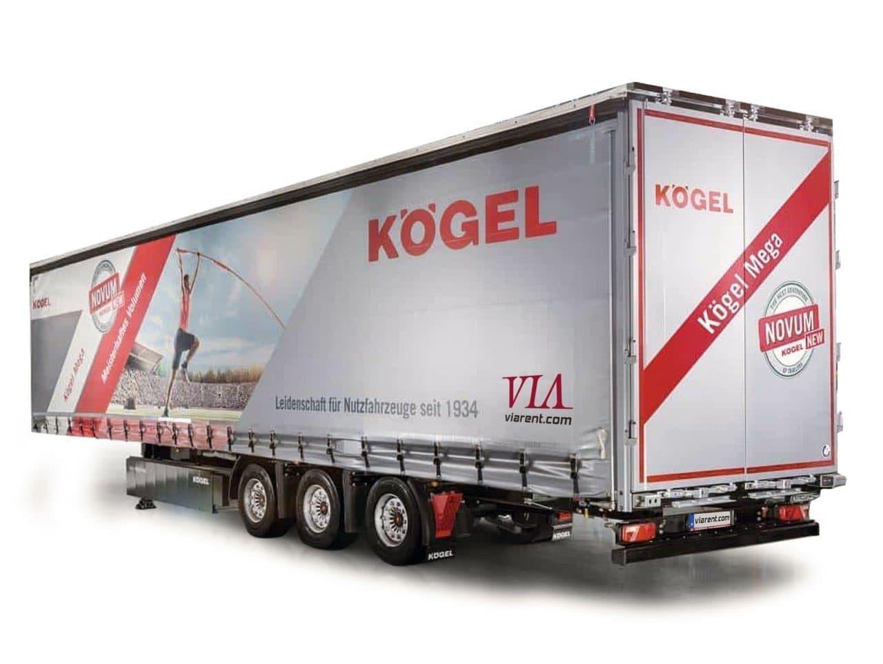 Plachtový náves Kögel Mega prenájom