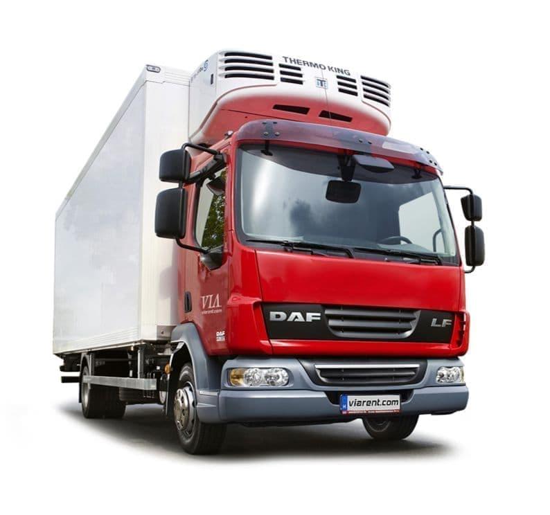 Chladiarenský nákladný automobil DAF LF prenájom