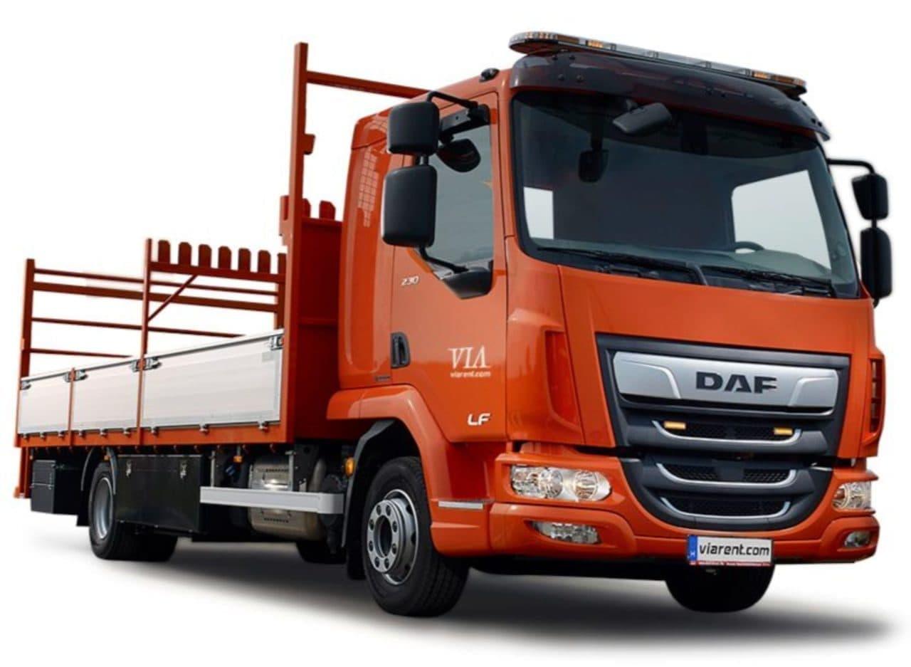 Plachtové nákladné auto DAF LF prenájom