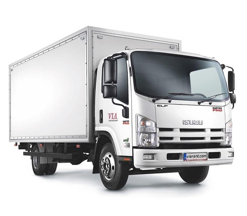 Skriňové nákladné auto ISUZU 5,5-14 t prenájom