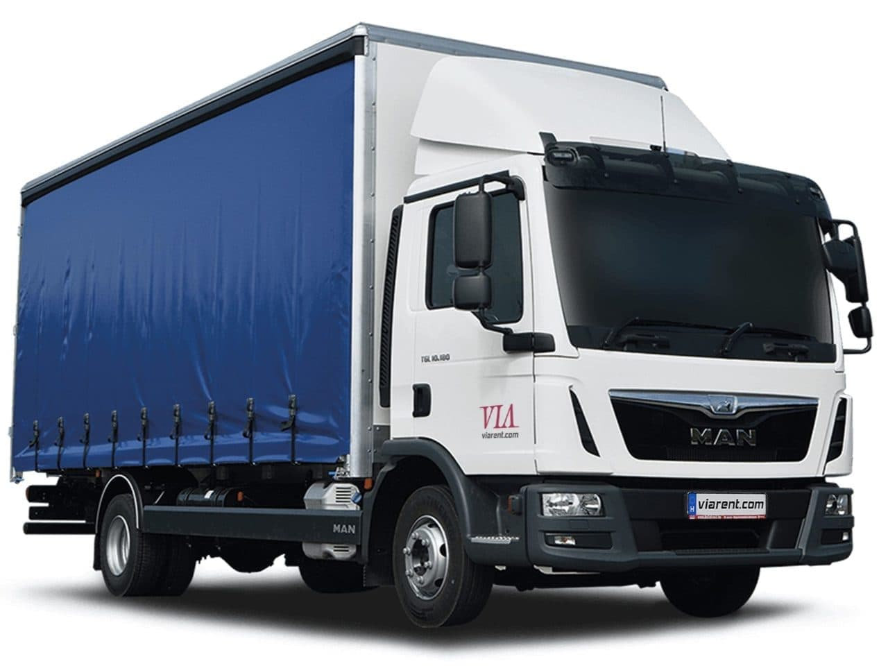 Plachtové nákladné auto MAN TGM a MAN TGL prenájom