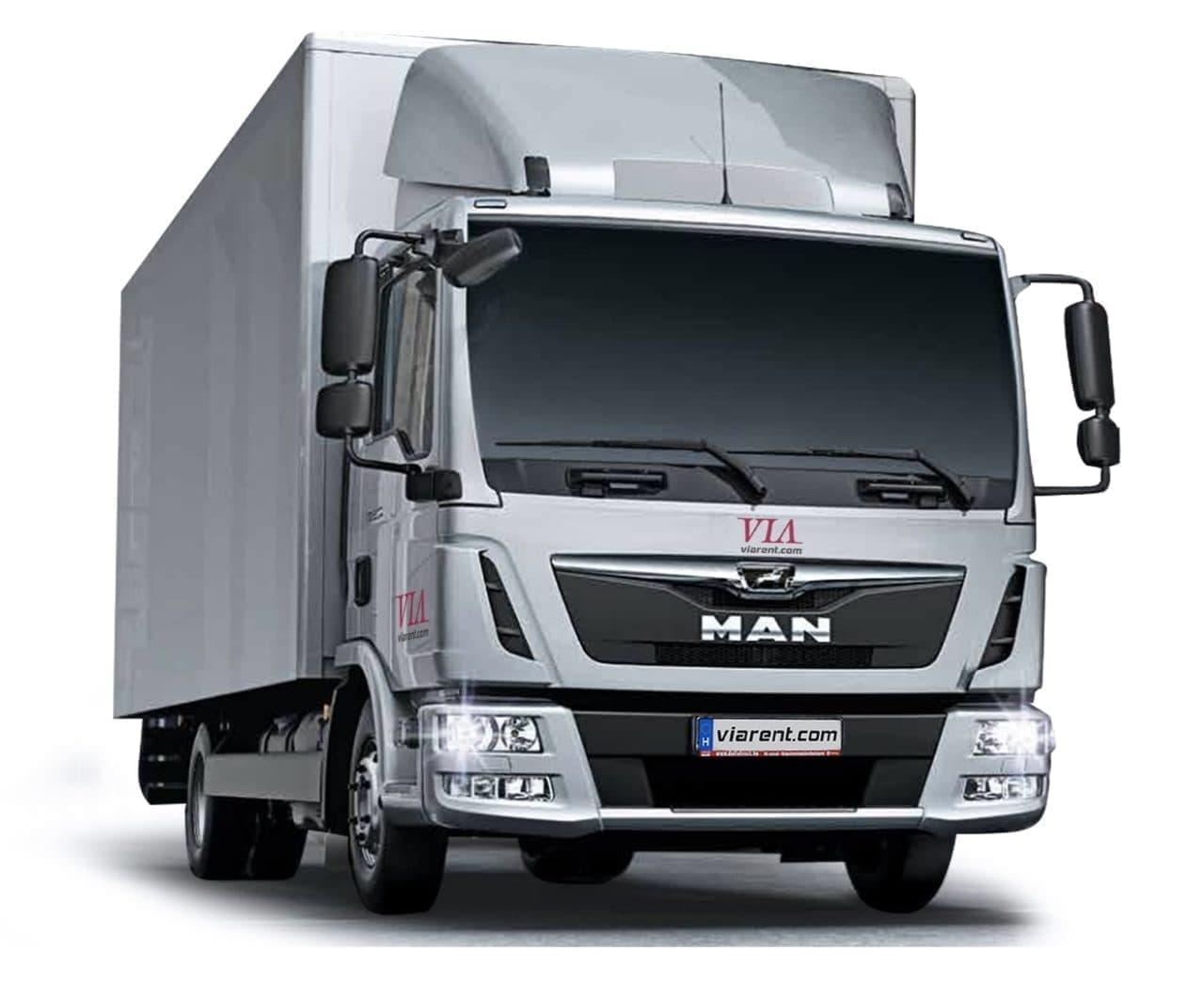 Skriňové nákladné auto MAN TGM a MAN TGL prenájom