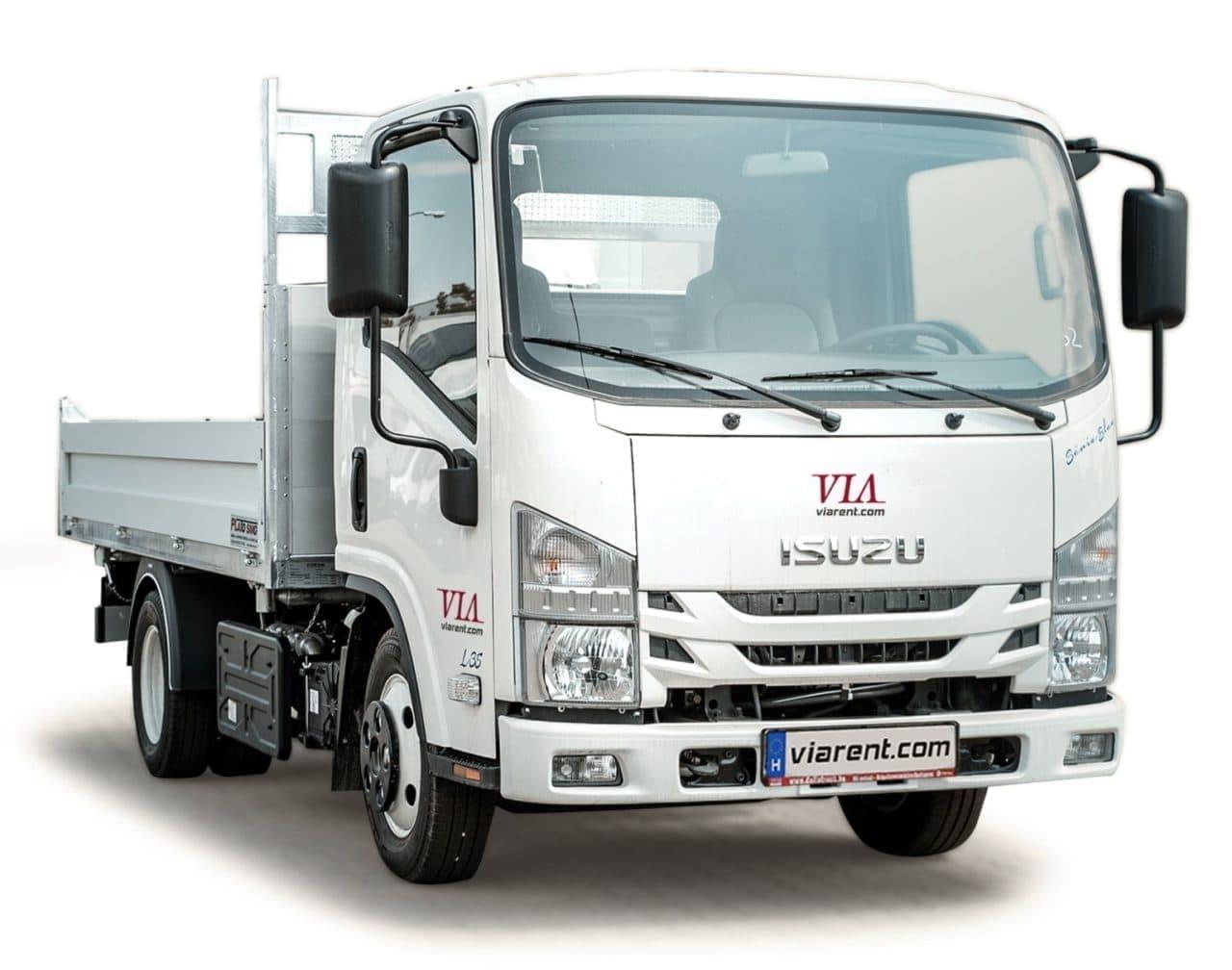 Plachtové nákladné auto ISUZU 3,5 t prenájom