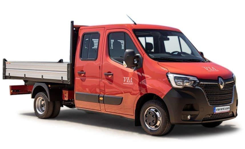 Dodávka s dvojitou kabínou Renault Master prenájom